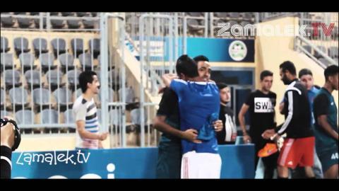 اسلام جمال و هزار مع كهرباء بعد مباراة الاسيوطي