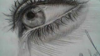 تعليم رسم العين بقلم الرصاص للمبتدئين